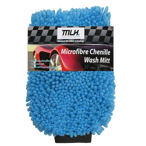 Microfibre Chenille Noodle Wash Mitt (Blue)