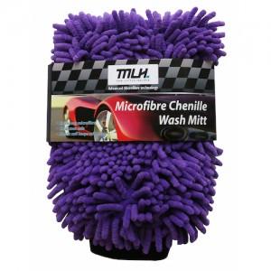 Microfibre Chenille Noodle Wash Mitt (Purple)
