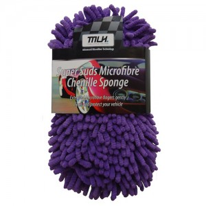 Supersuds Chenille Microfibre Sponge - Purple