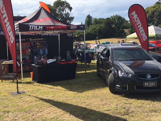 Latrobe Valley Street Machine Car Show Mothers Polish Australia - Car show wheel stands