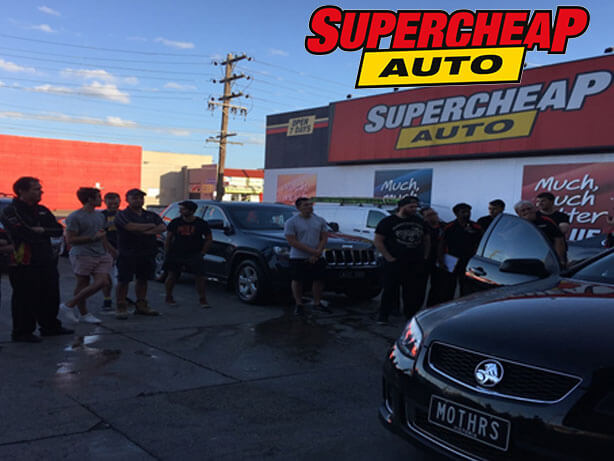 Supercheap Auto Staff watching the demonstration